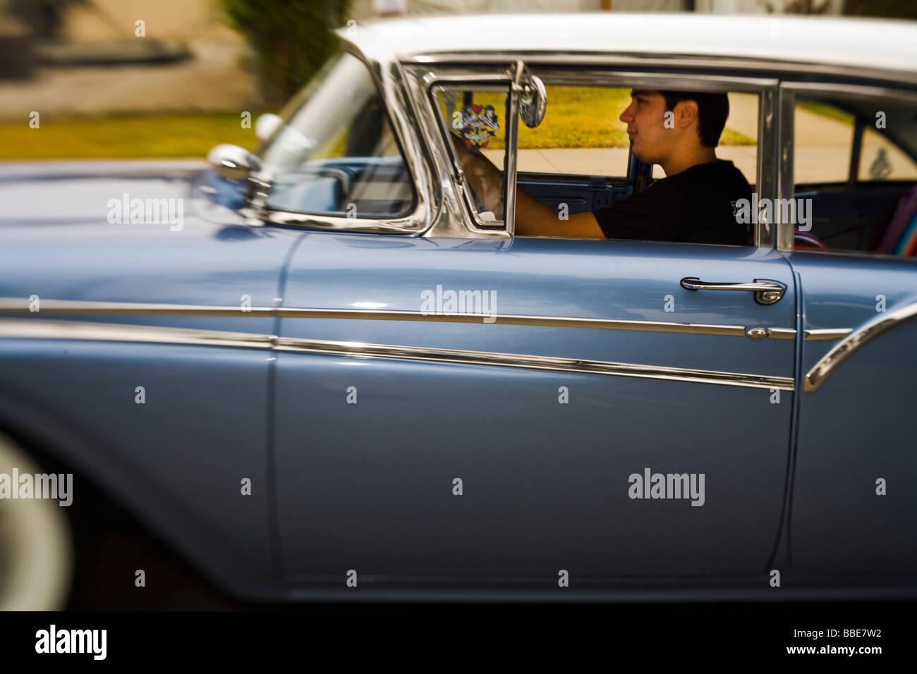 Driving A Classic Car At The Parade Culver City Car Show Culver