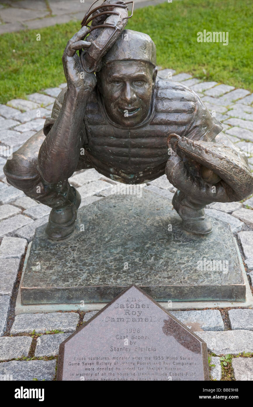 national baseball hall fame museum stock photos national statue of roy campanella national baseball hall of fame and museum cooperstown