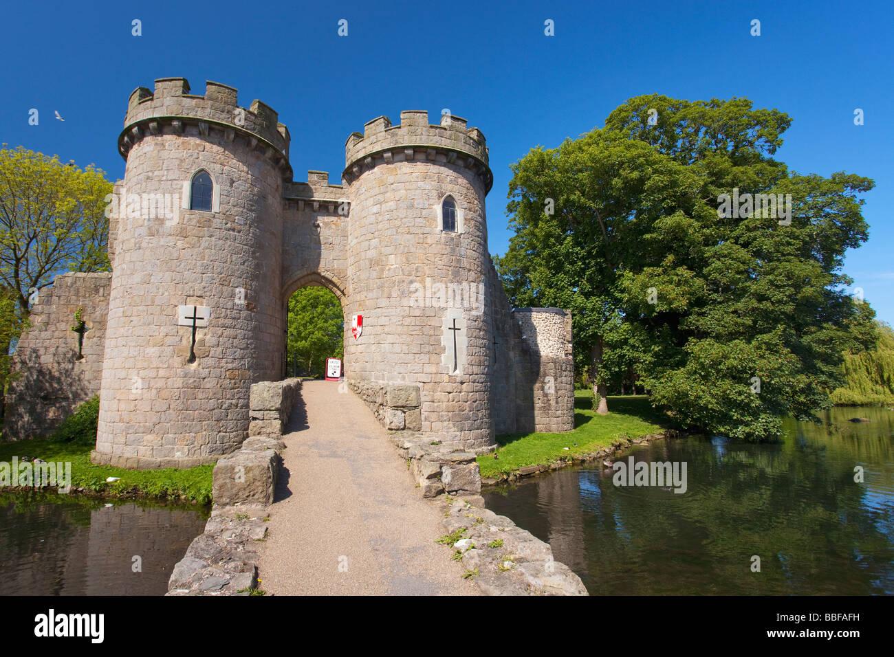Moat At Whittington Castle Near Oswestry Shropshire