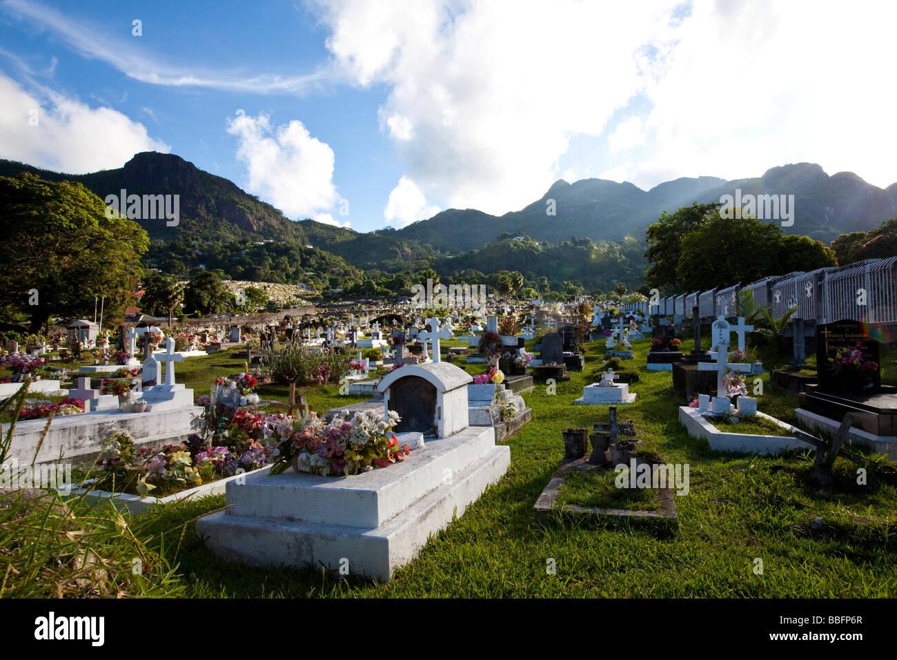 Cemetery Of The Capital City Victoria Mahe Island Seychelles - Seychelles victoria map indian ocean