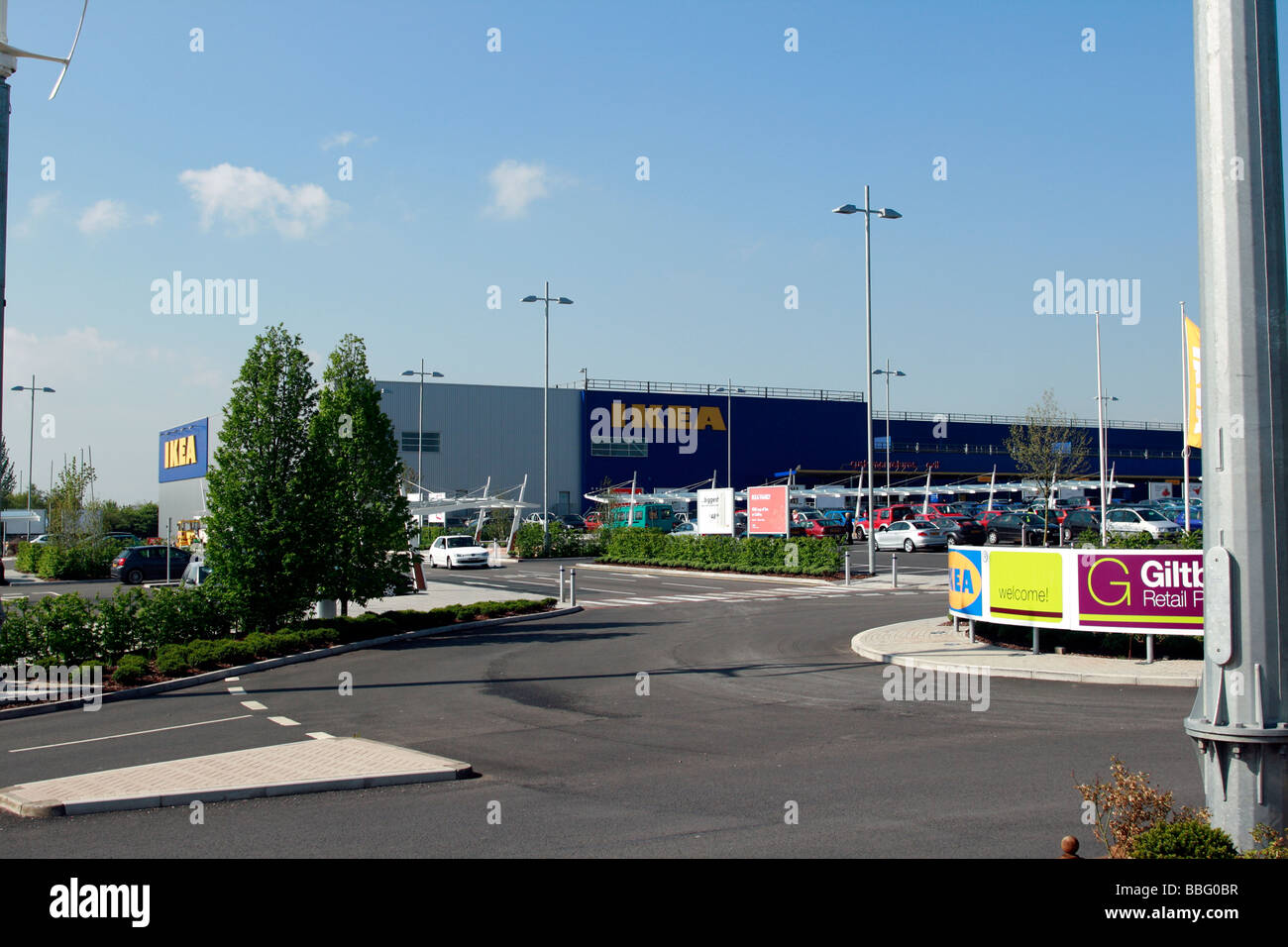 ikea giltbrook retail park out of town shopping centre kimberley stock photo royalty free image. Black Bedroom Furniture Sets. Home Design Ideas