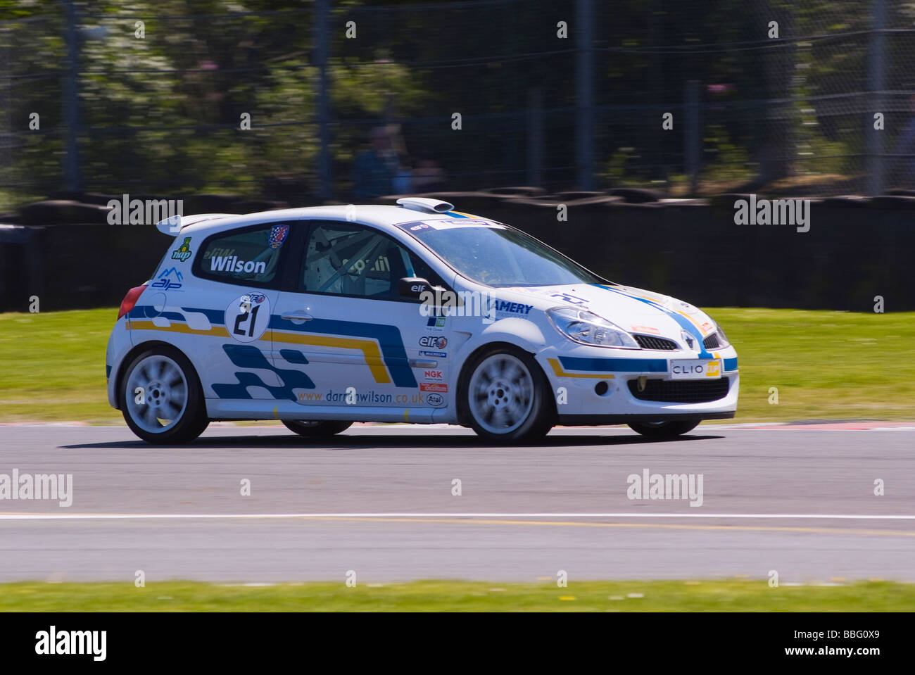 Renault Clio Race Car In Elf Renault Clio Cup At Oulton