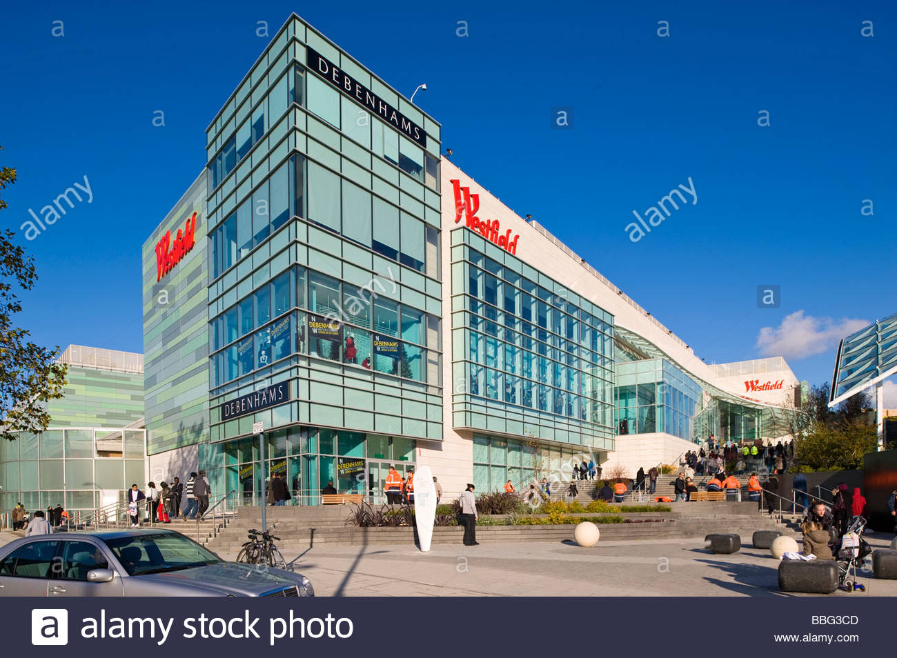westfield shopping centre white city development w12 london stock photo royalty free image. Black Bedroom Furniture Sets. Home Design Ideas
