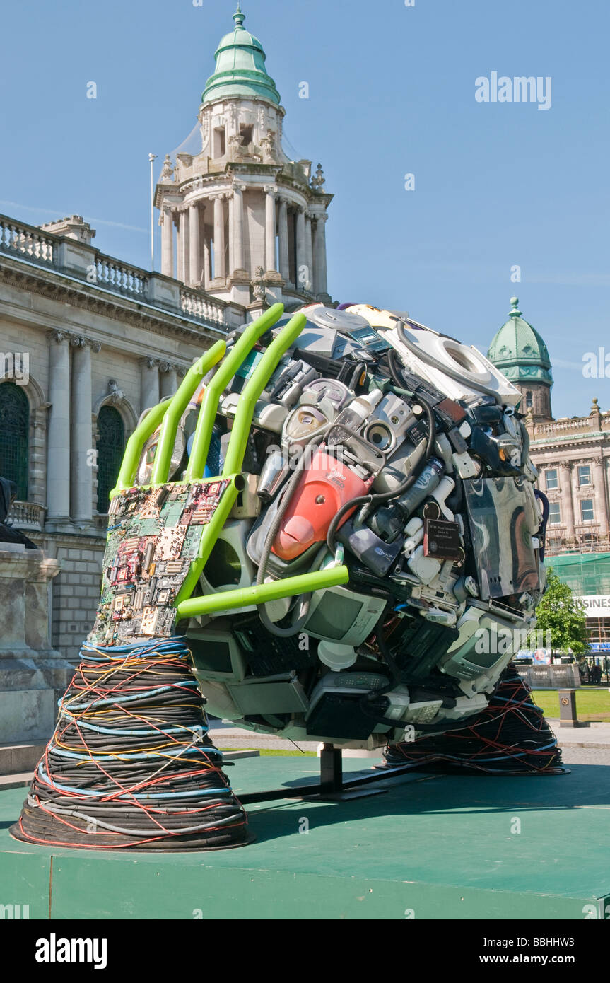 Sculpture By Colin Mcknight Made From Recycled Electrical