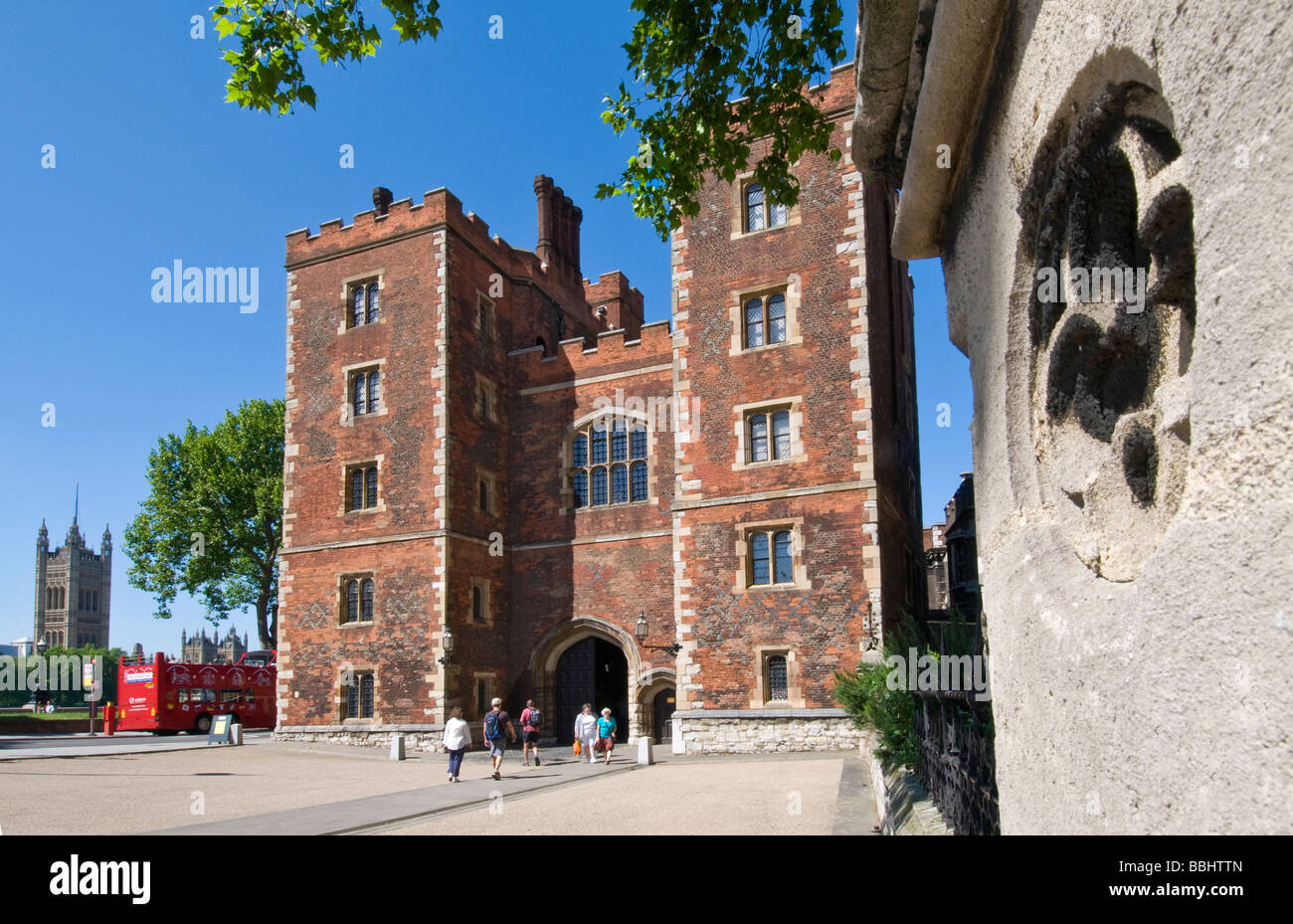Tudor Facade tudor facade and gatehouse entrance to lambeth palace with houses