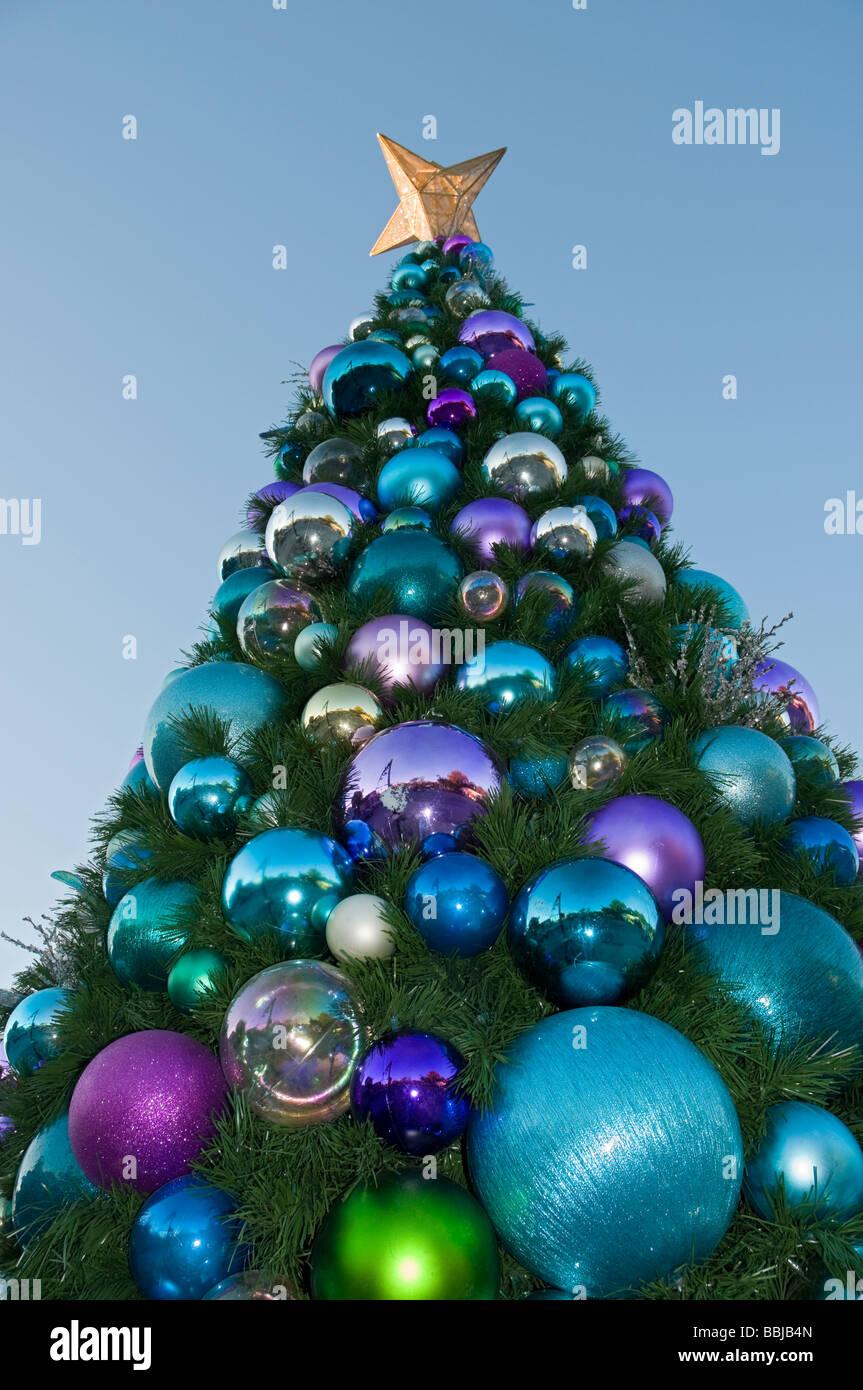 Giant outdoor Christmas tree High Springs Florida Stock Photo ...