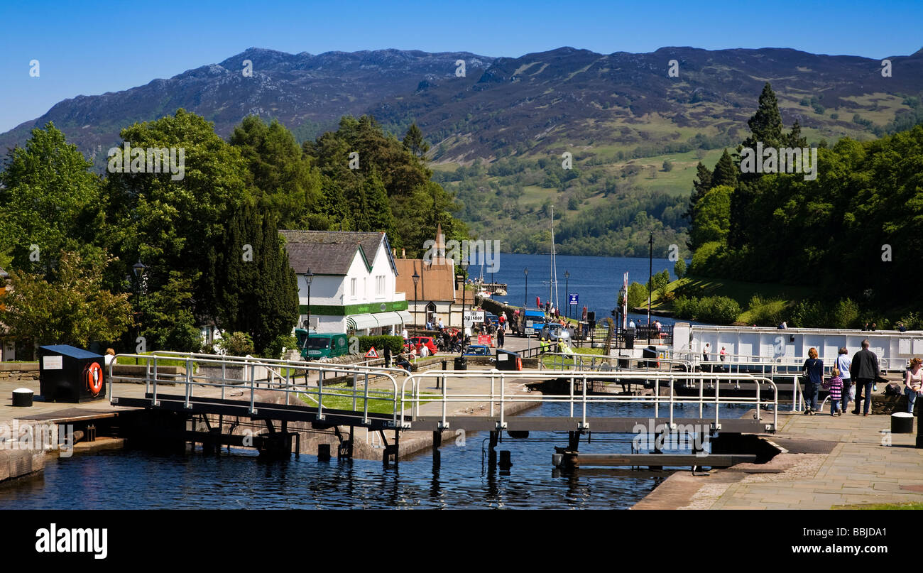 the caledonian canal at fort augustus loch ness highland region