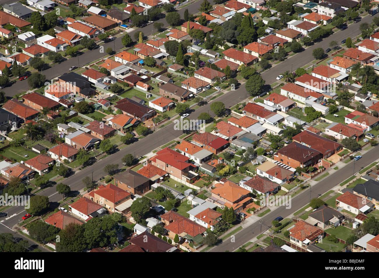 suburbia lidcombe north sydney new south wales australia aerial