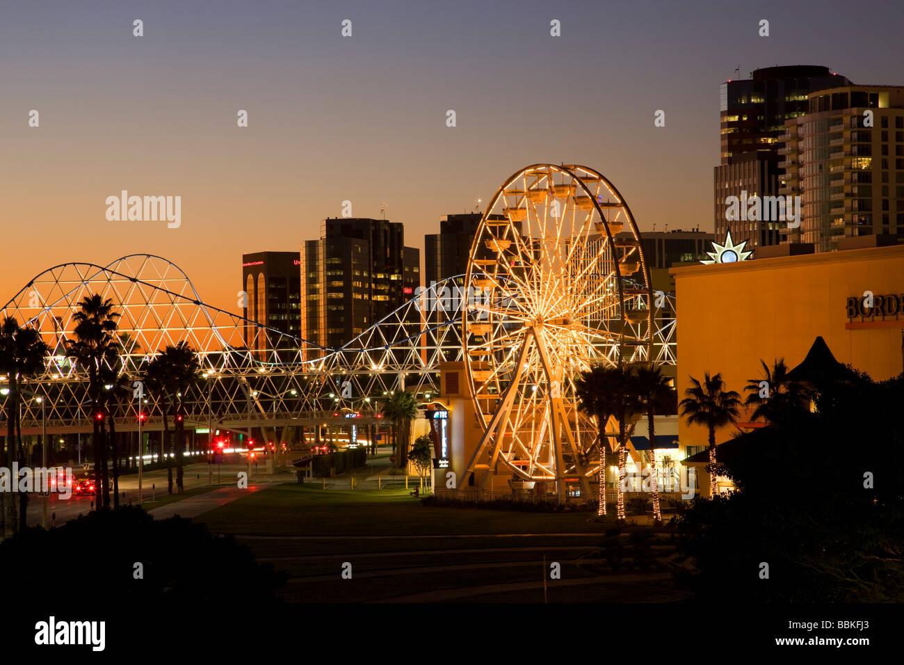 Ferris Wheel At The Pike Waterfront Center Long Beach California