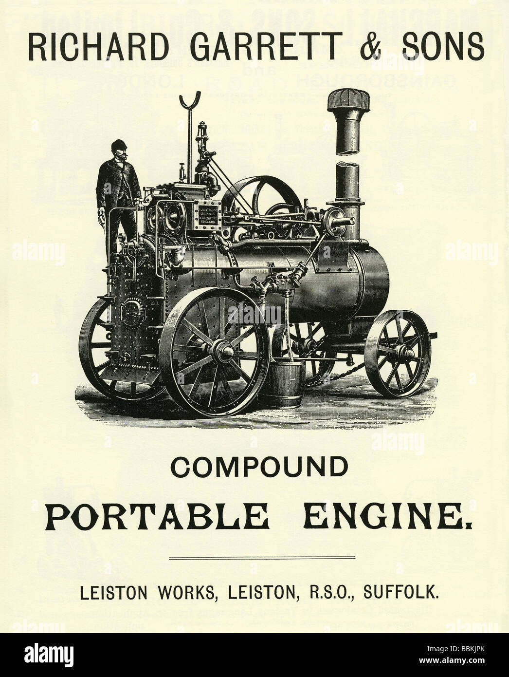 in a victorian mailorder catalogue for a portable traction engine richard garrett