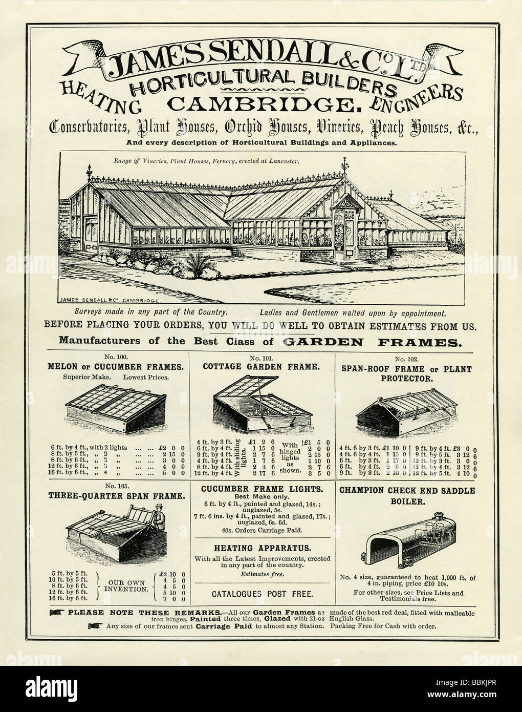 in a victorian mailorder catalogue for greenhouses and cold frames james sedall u0026 co cambridge
