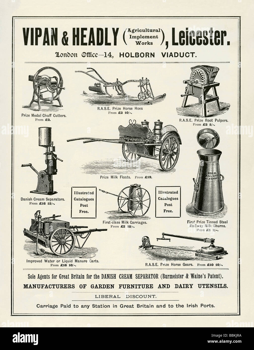 advertisement in a victorian mailorder catalogue for