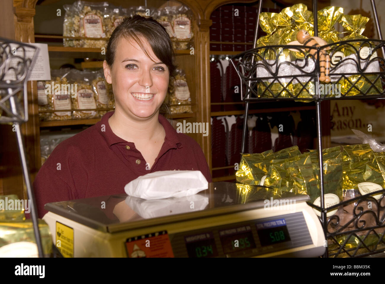 Kilwins Chocolate Shop Blowing Rock NC USA Stock Photo, Royalty ...
