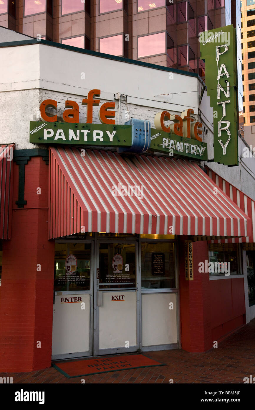 The Original Pantry Cafe Downtown Los Angeles California Stock
