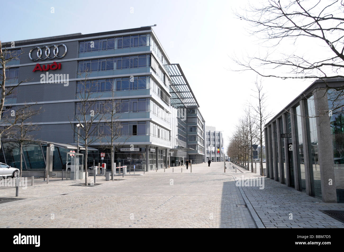 administration building museum mobile audi world audi ingolstadt stock photo royalty free. Black Bedroom Furniture Sets. Home Design Ideas