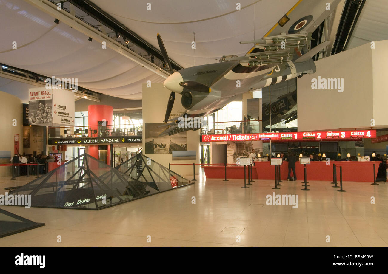 elk204 cn31 france caen le memorial world war ii museum lobby stock photo royalty free image. Black Bedroom Furniture Sets. Home Design Ideas