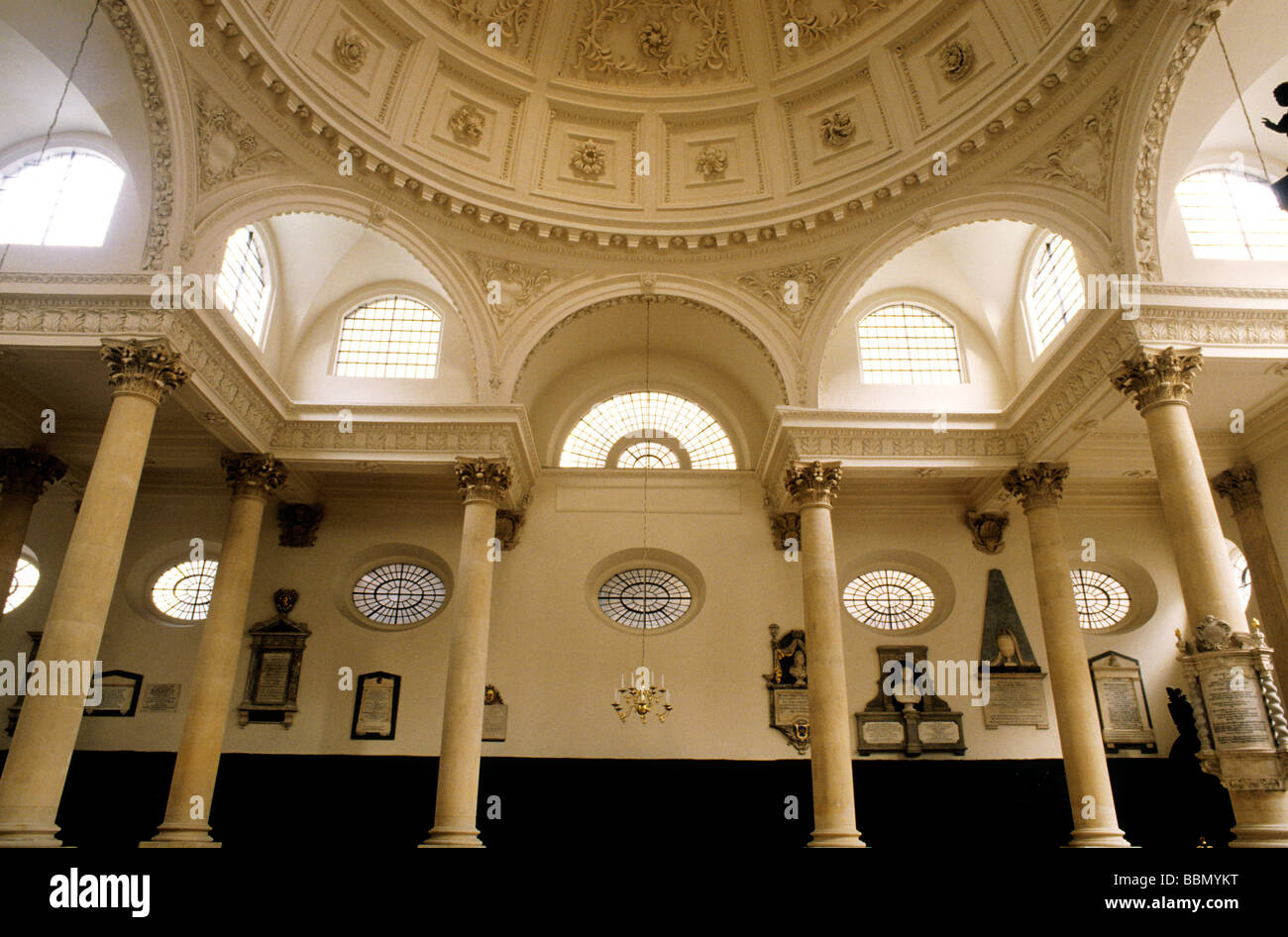 St Stephen Walbrook Church Interior City Of London Dome 17th Centrury  English Architecture, Sir Christopher