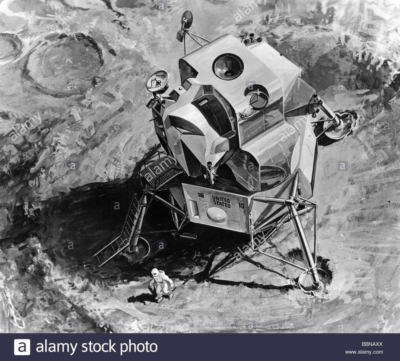 drawing apollo 11 moon lander - photo #2