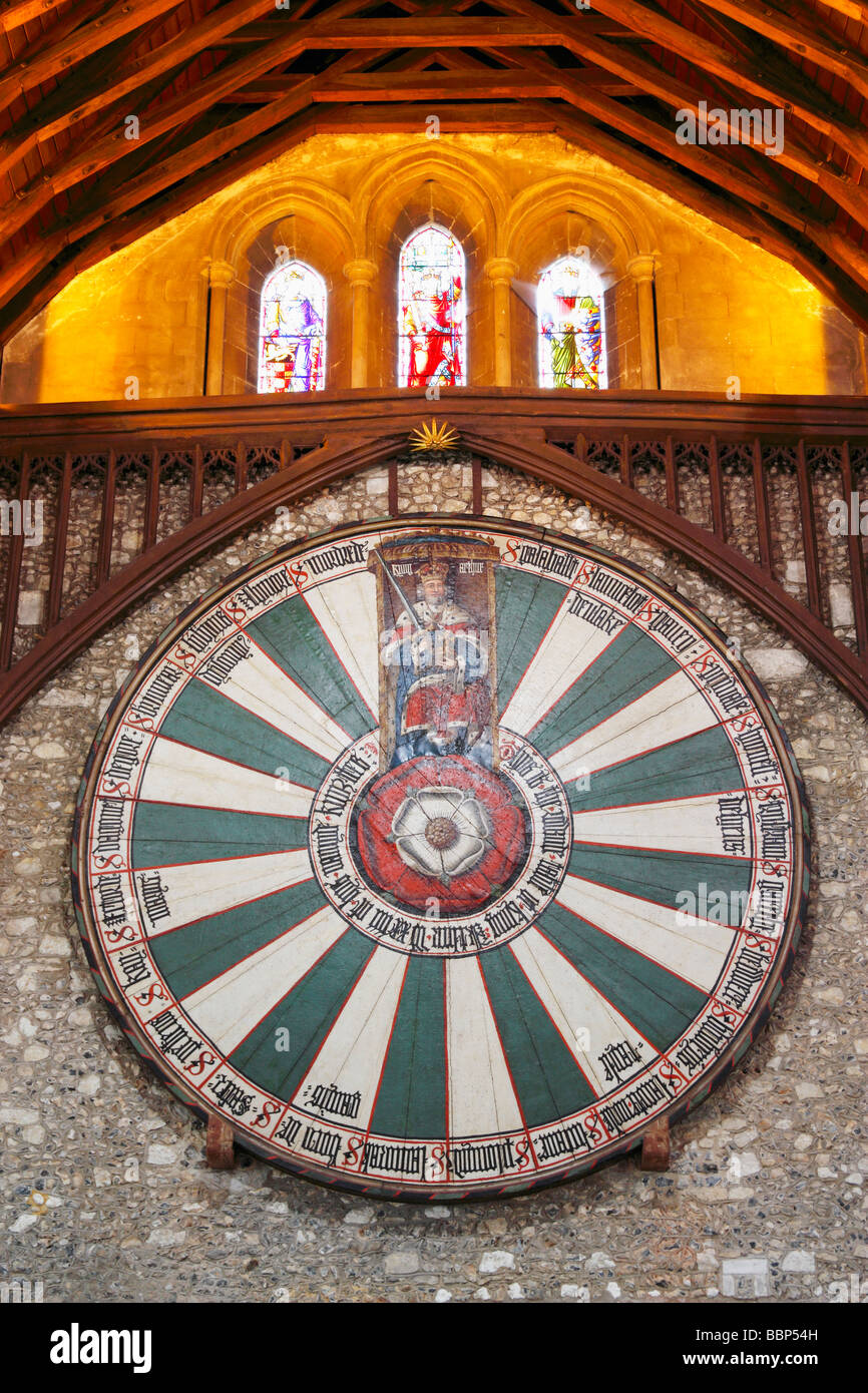 Stock Photo King Arthur 39 S Round Table In The Great Hall Winchester
