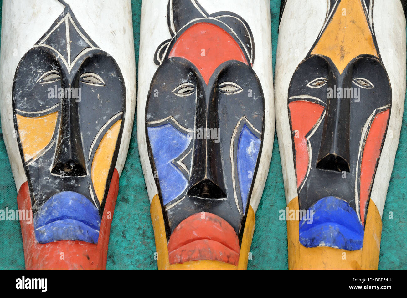 colourful african masks for sale at cape town south africa