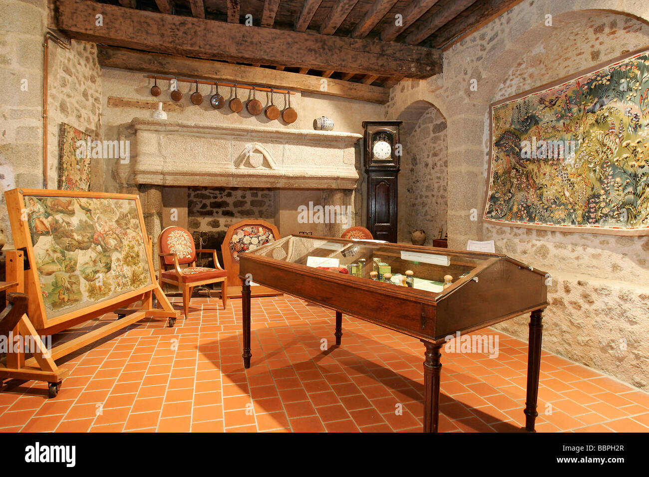 tapestry maison du tapissier tapestry museum aubusson creuse 23 stock photo royalty free. Black Bedroom Furniture Sets. Home Design Ideas