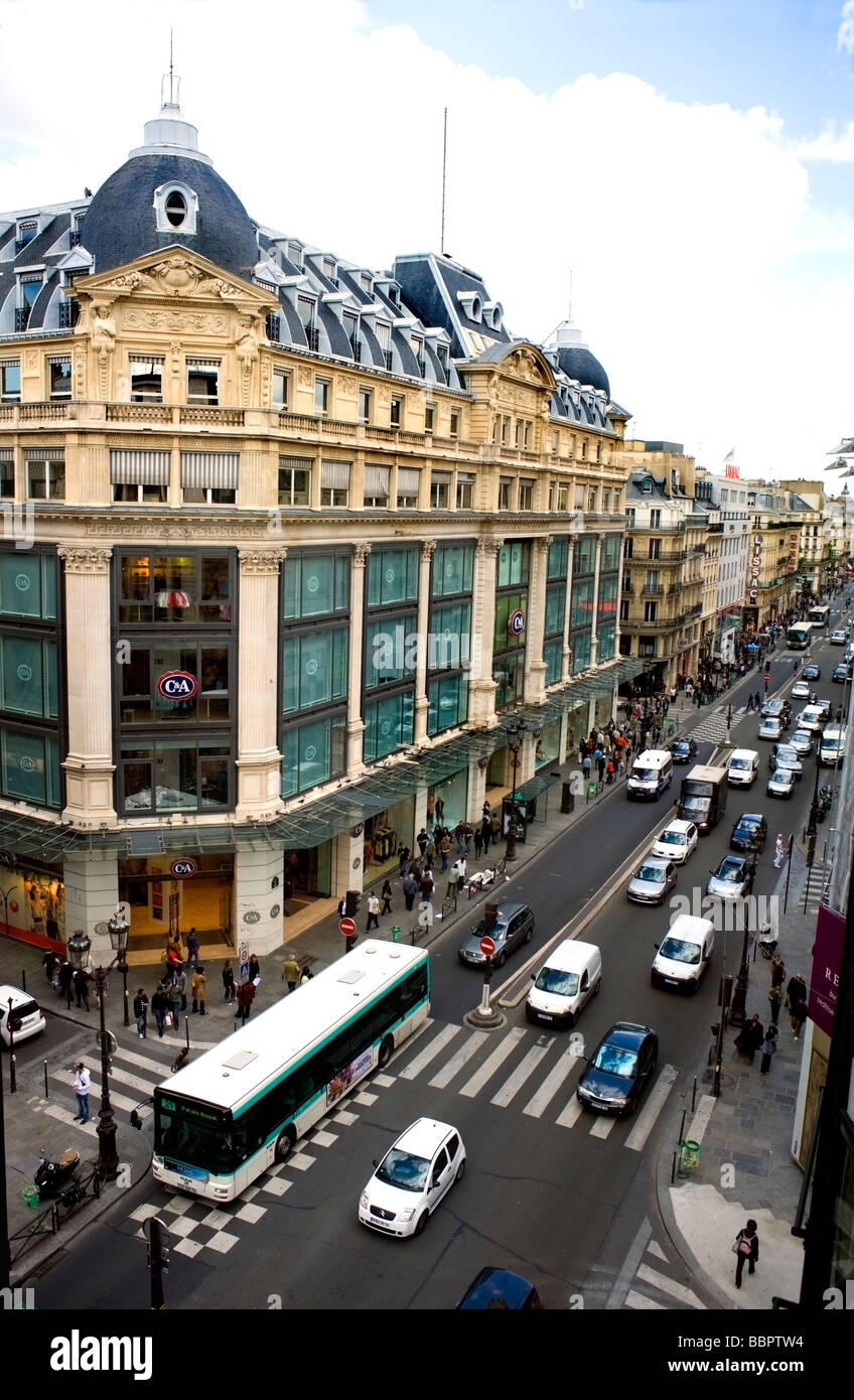 paris france aerial view street scene c a department store stock photo royalty free. Black Bedroom Furniture Sets. Home Design Ideas