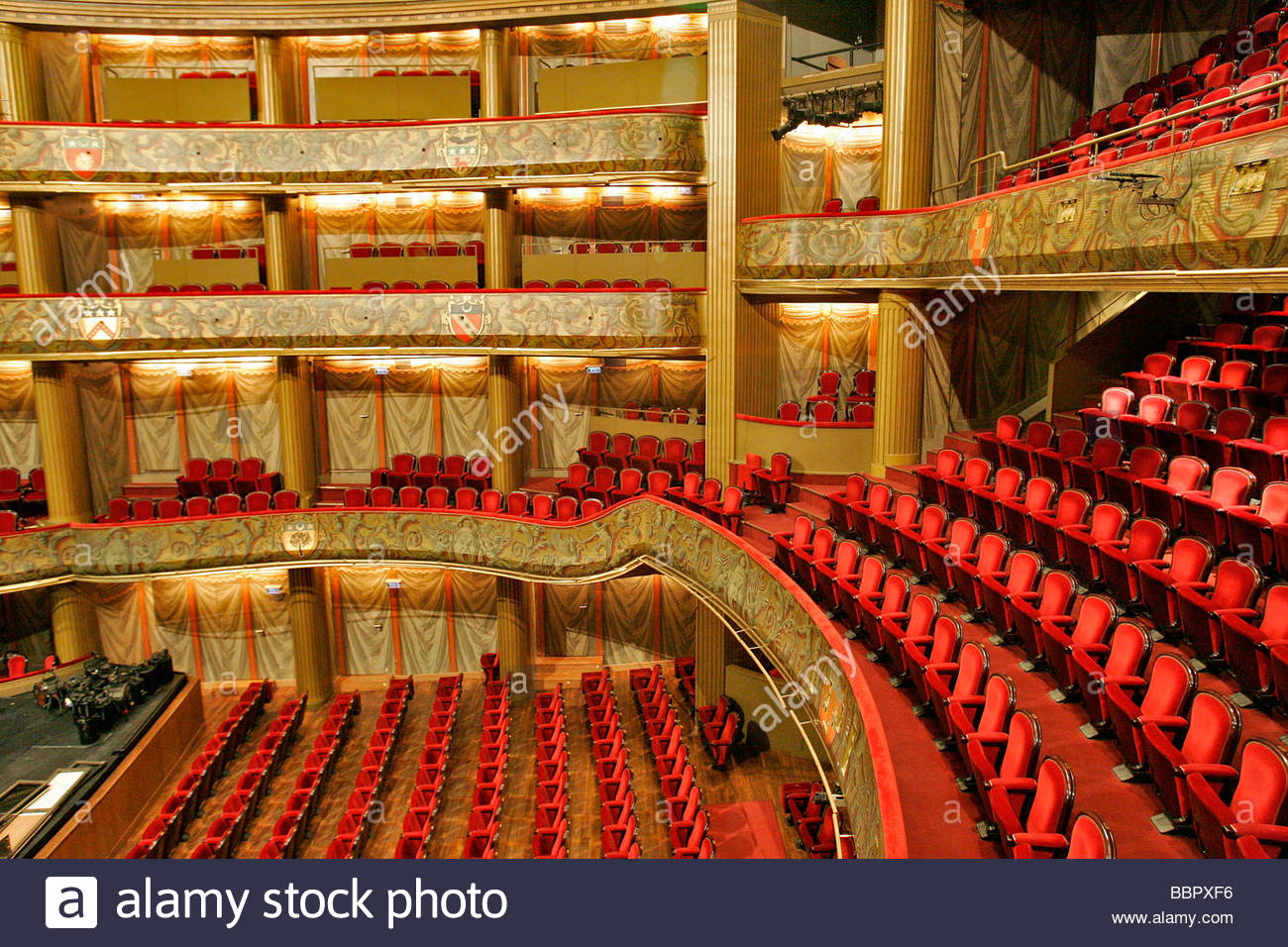 the theater s auditorium theatre du capitole toulouse stock photo royalty free image
