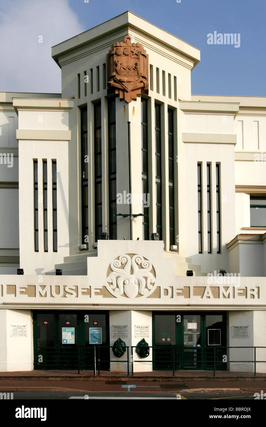 MUSEUM OF THE SEA IN BIARRITZ, ART DECO ARCHITECTURE, BASQUE ...