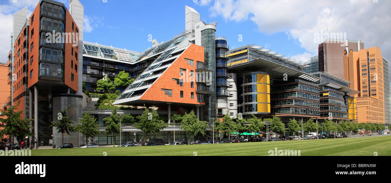 Modern Architecture Berlin germany berlin potsdamer platz new urban development modern stock