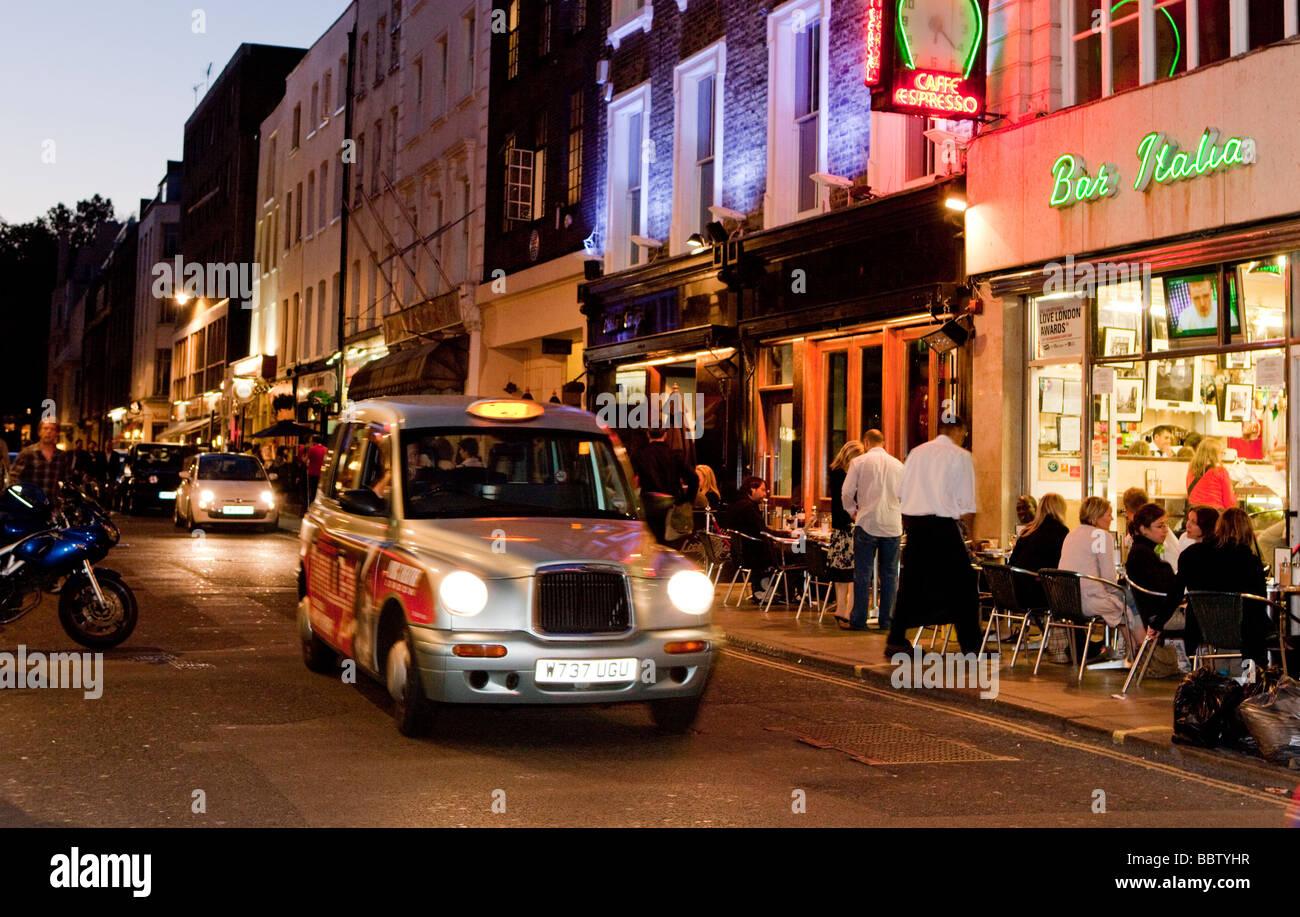 Outside Bar Blaxk Cab Outside Bar Italia Frith Street Soho London Uk Europe