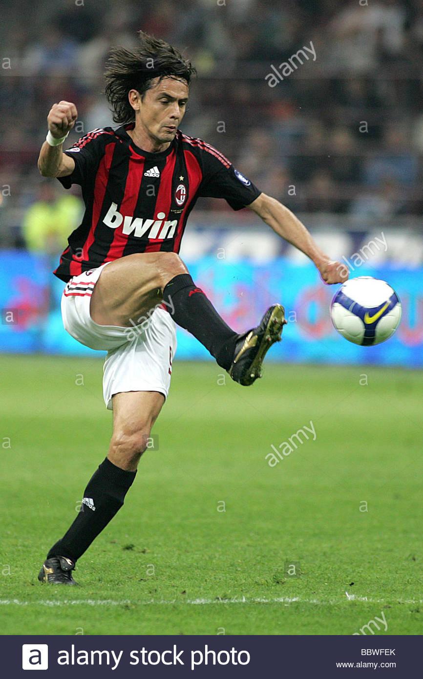 filippo inzaghi milano 2009 serie a football championship Stock