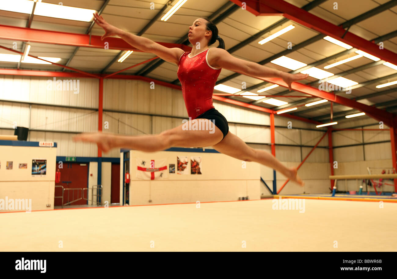 Double European Gymnastics Champion Beth Tweddle At A