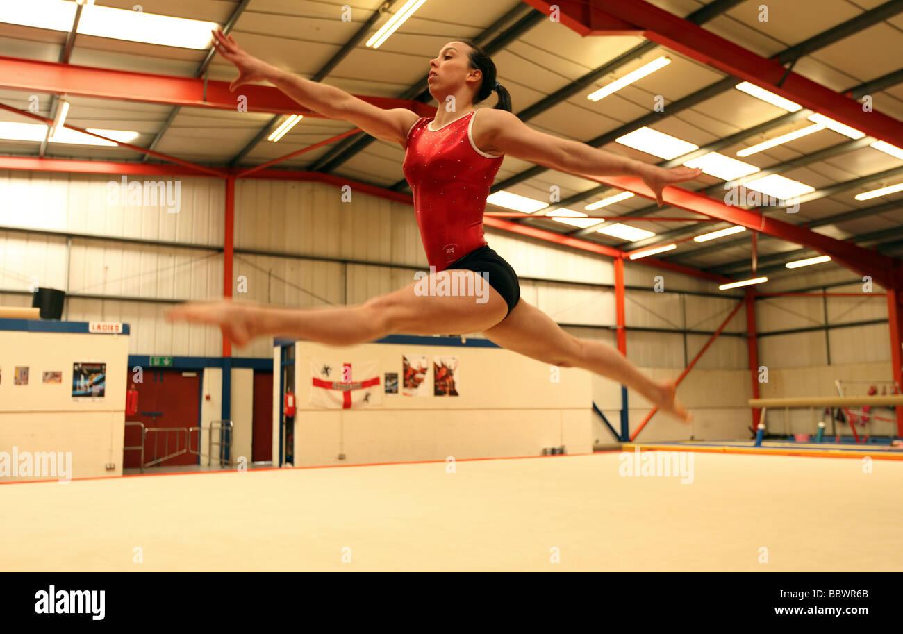 Double European Gymnastics Champion Beth Tweddle At A