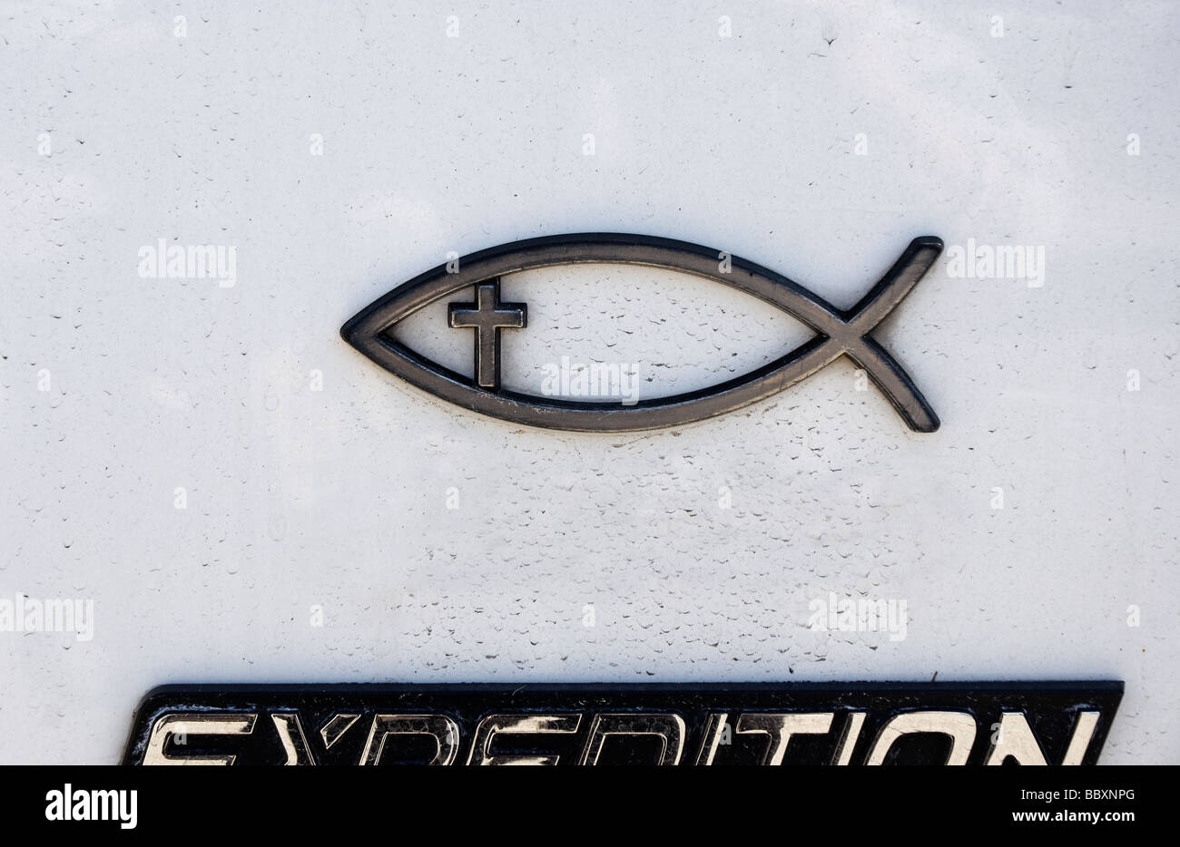 Christian fish stock photos christian fish stock images alamy christian emblem of fish with cross inside on exterior of auto stock image biocorpaavc