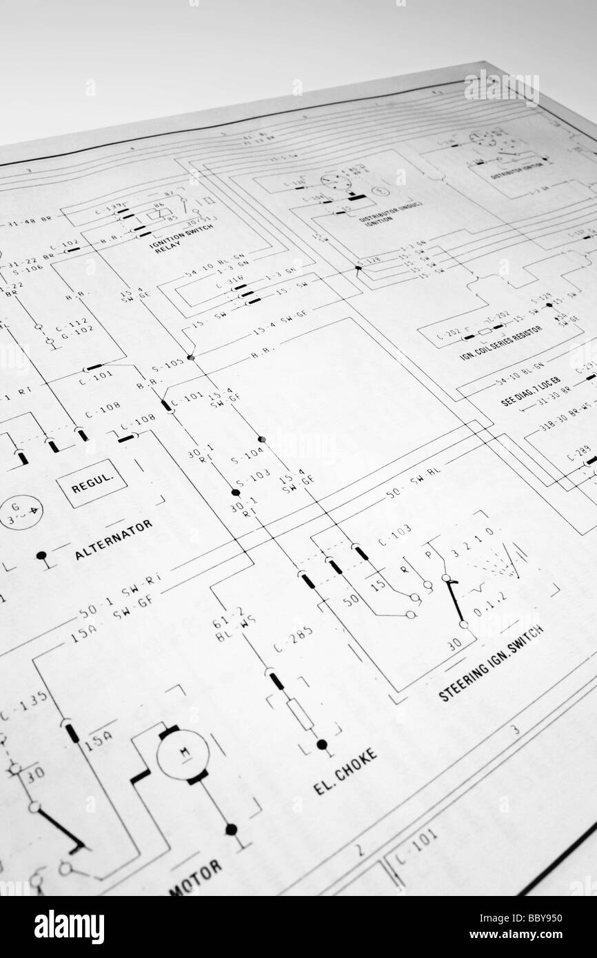 Electrical Wiring Diagram Stock Photo  Royalty Free Image
