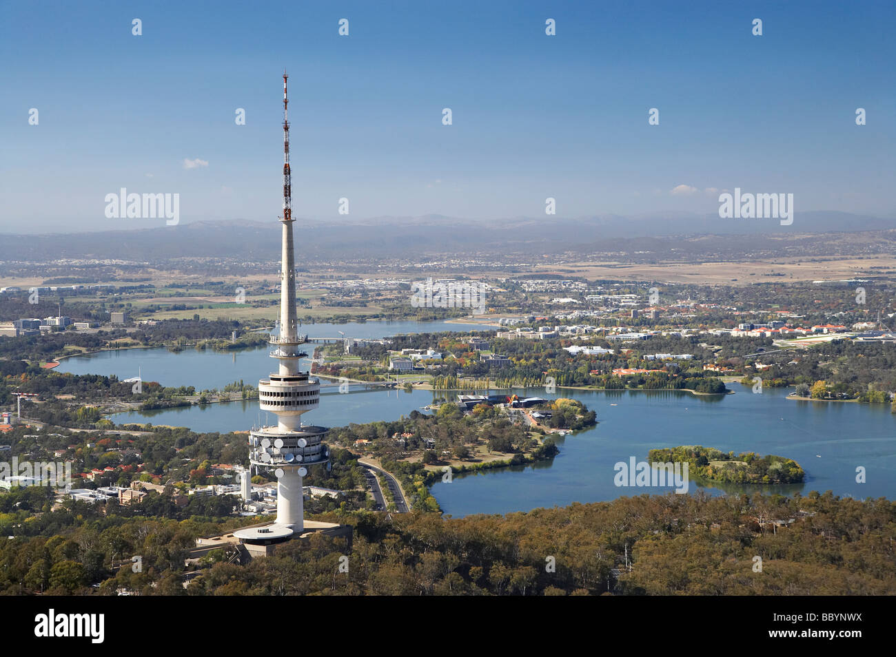 telstra tower black mountain and lake burley griffin. Black Bedroom Furniture Sets. Home Design Ideas
