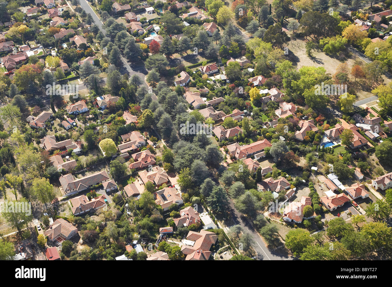 leafy suburbia currong and euree streets reid canberra act