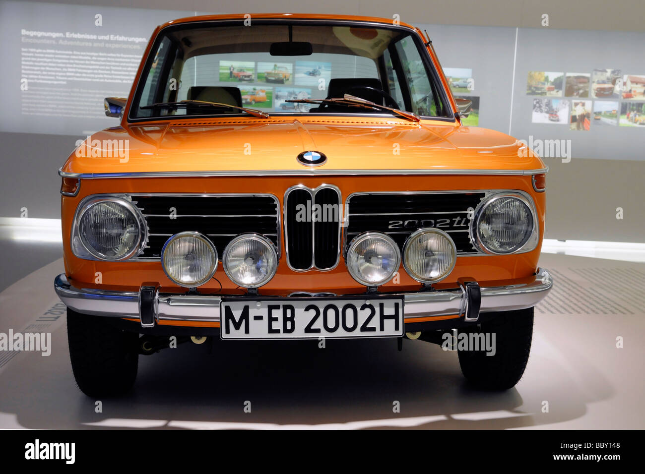 bmw 2002 ti bmw museum munich bavaria germany europe stock photo royalty free image. Black Bedroom Furniture Sets. Home Design Ideas