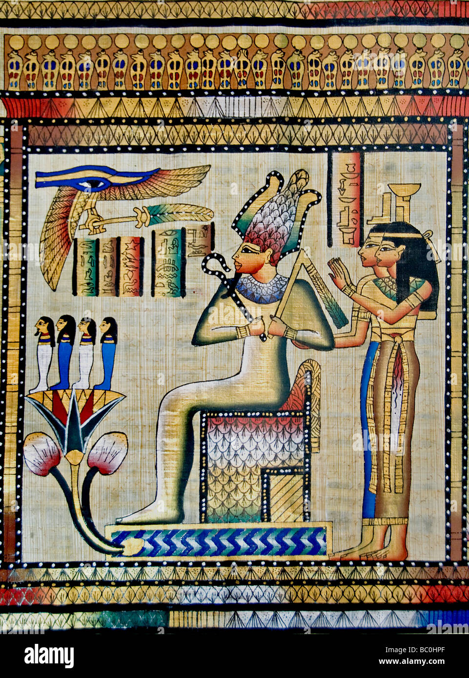 New Egyptian Paintings from pharaonic times on papyrus ...