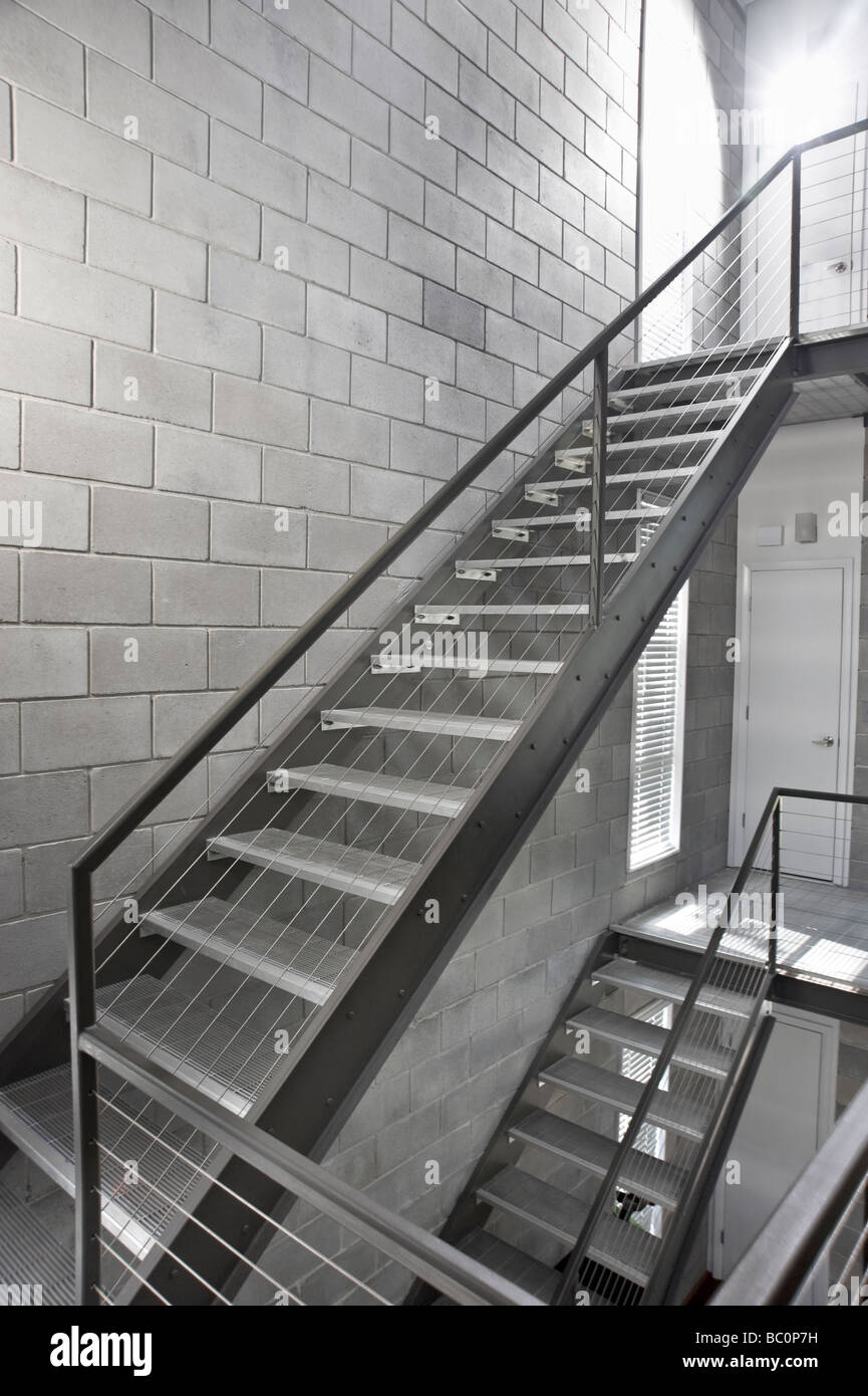 Attractive Industrial Metal Stairs Staircase