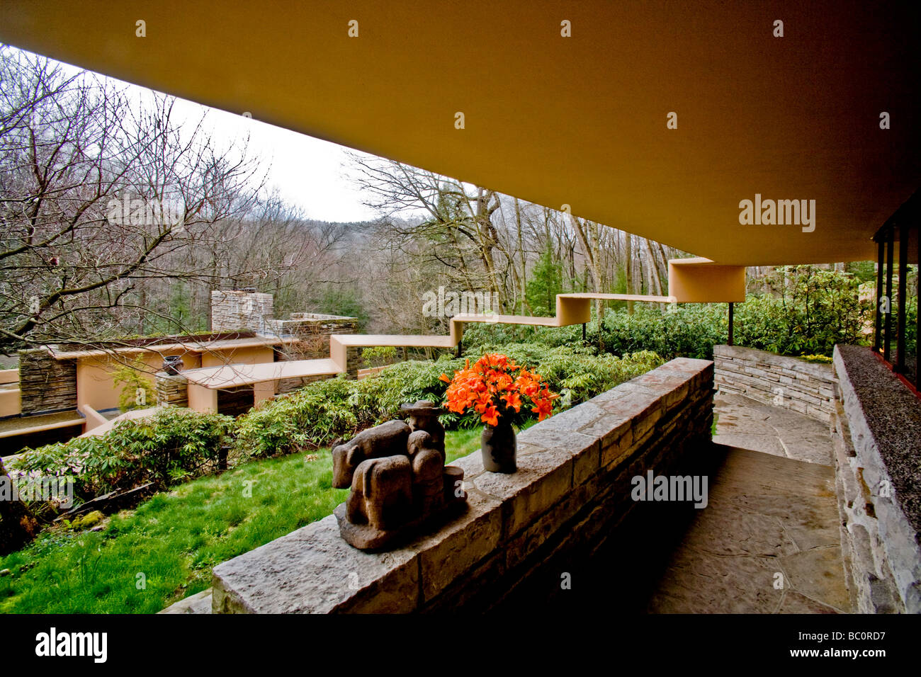 The View From The Fallingwater Guest House Shows The