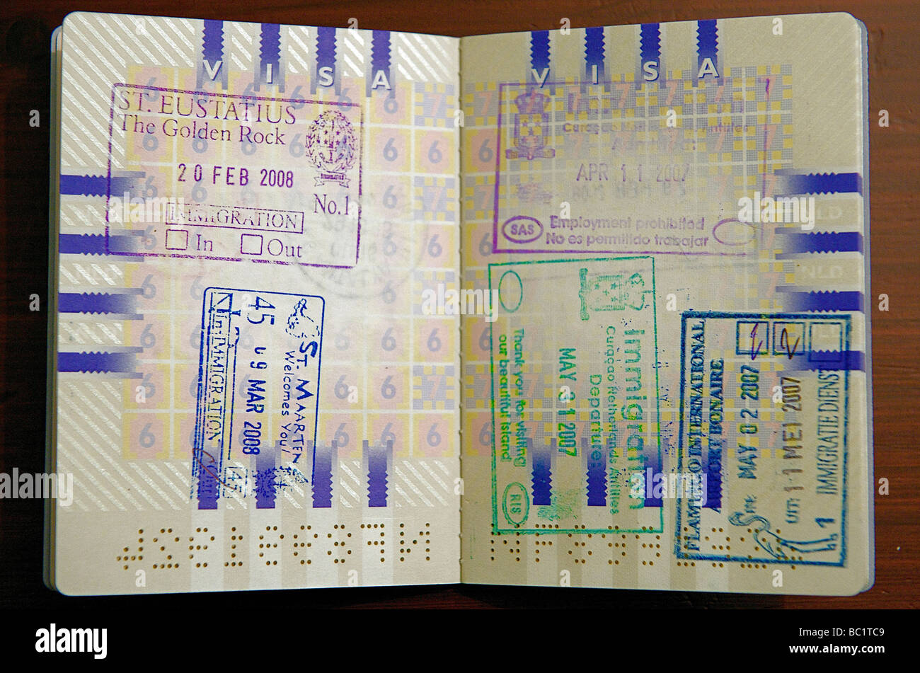 Dutch passport and stamps from st eustatius st maarten curacao and dutch passport and stamps from st eustatius st maarten curacao and bonaire ccuart Choice Image