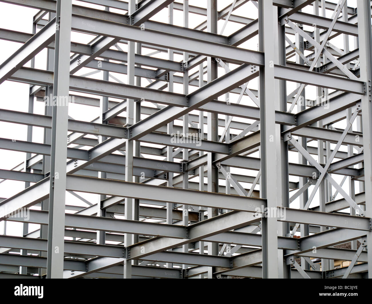 Steel framed building structure Stock Photo, Royalty Free Image ...