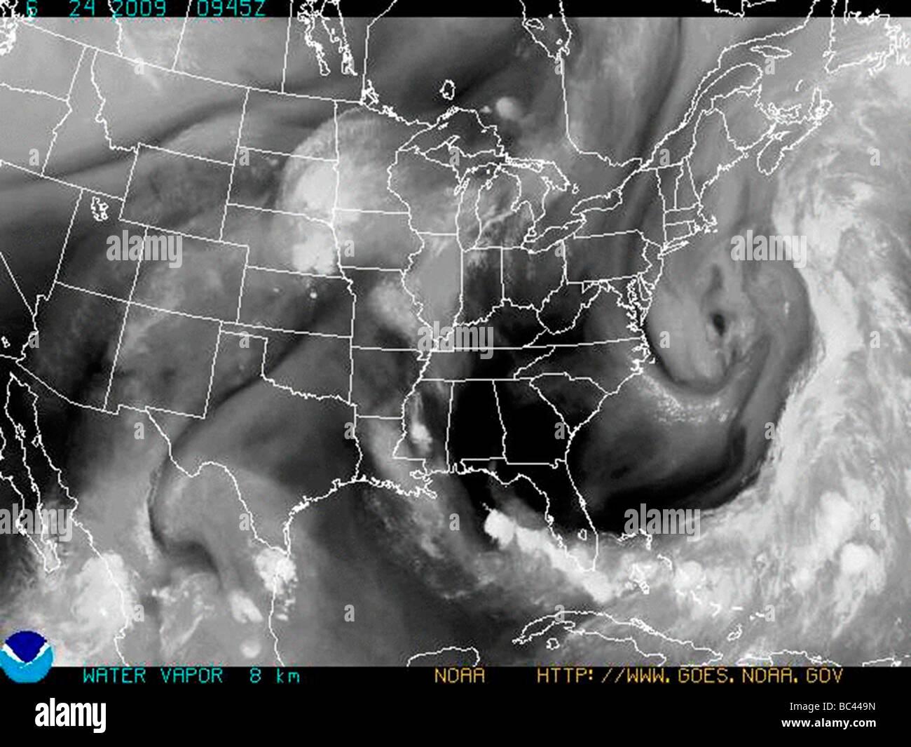 NOAA Satellite Weather Map Of United States Stock Photo Royalty - Satellite weather map