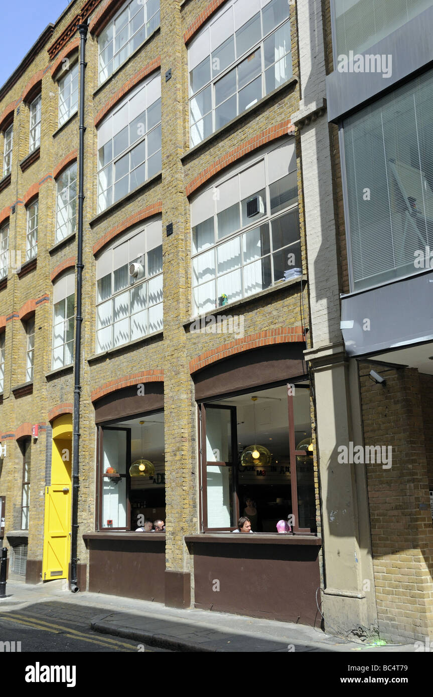 Converted Warehouse cafe in converted warehouse building hoxton hackney london england