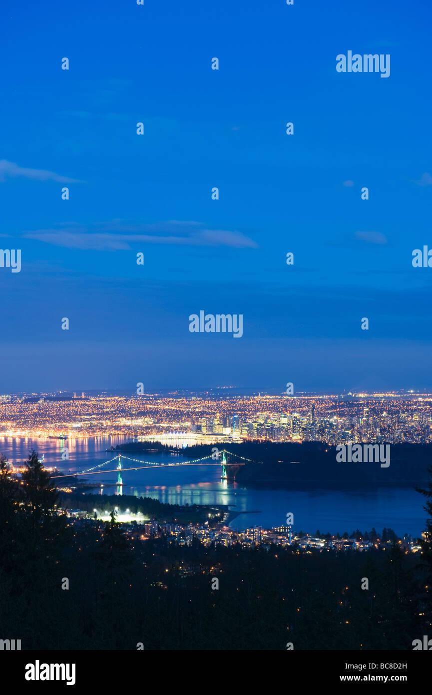 night skyline view of - photo #35