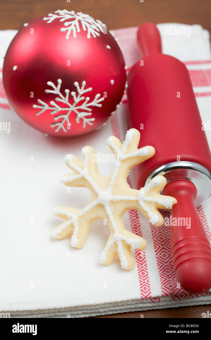 Rolling pin ornament - Christmas Biscuit Rolling Pin And Christmas Bauble