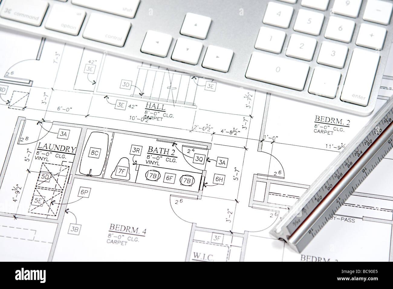 Modern architecture blueprints office building design sketches modern architecture blueprints modern architect using a cad blueprint and computer architecture blueprints s malvernweather Gallery