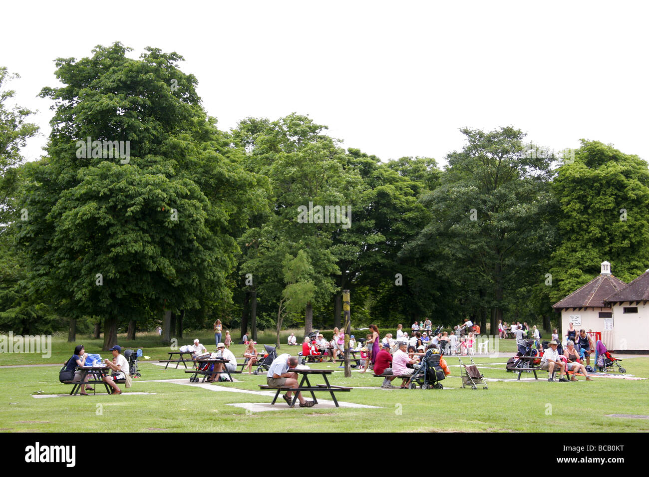 Families at picnic tables in cassiobury park watford for Table watford