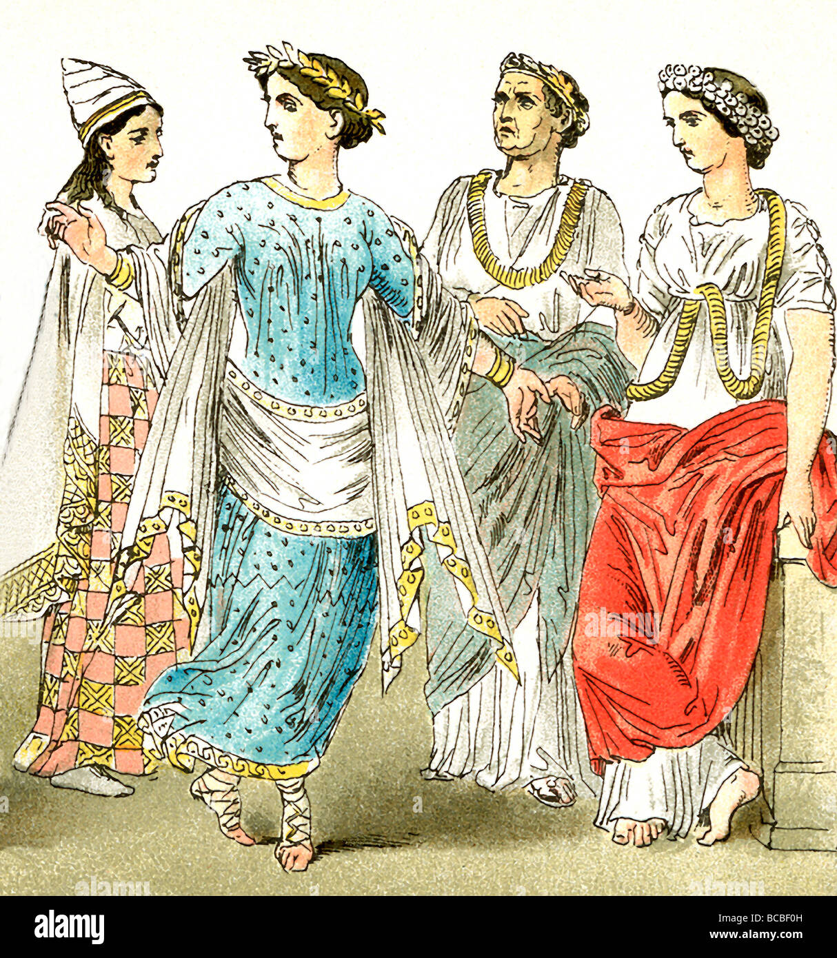 Etruscan Grecian And Roman Wedding Ideas: These Etruscan Figures Represent, Two Women Of The Upper